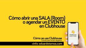 Como abrir una sala en clubhouse