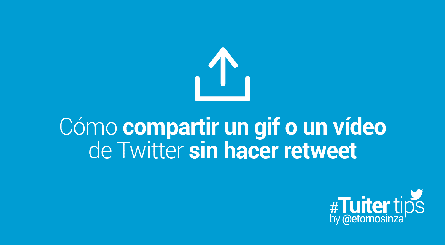 Cómo compartir video twitter iphone sin hacer retuit