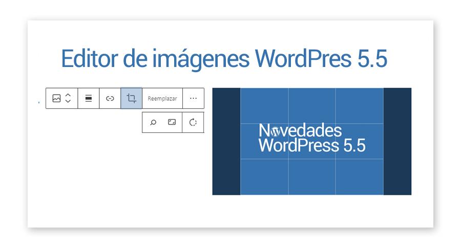 Nuevo editor de imágenes WordPress 5.5