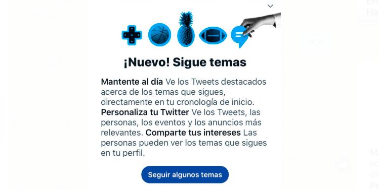 Qué son y como activar los Temas de Twitter