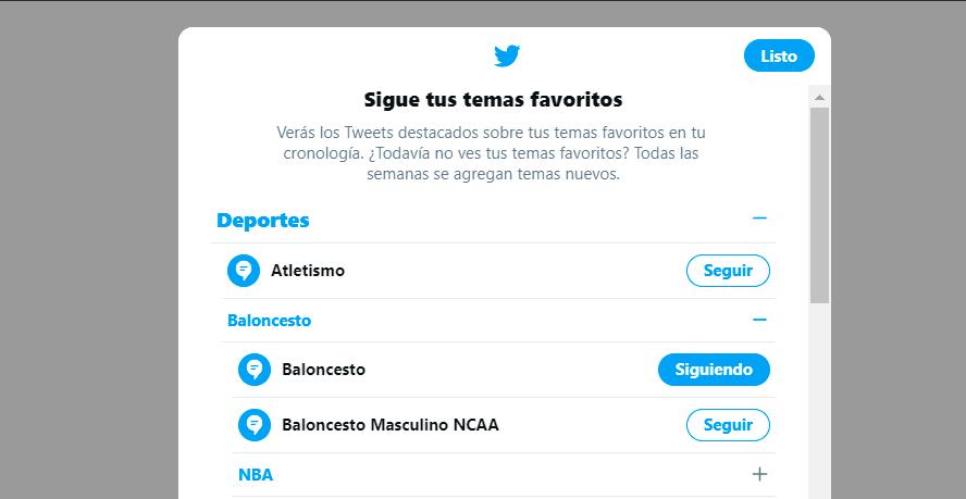 Cómo elegir los Temas de Twitter