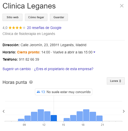 ficha ubicación google my business