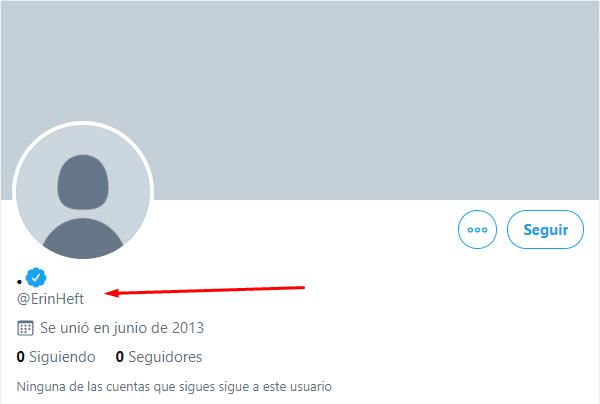 Perfil verificado de Twitter