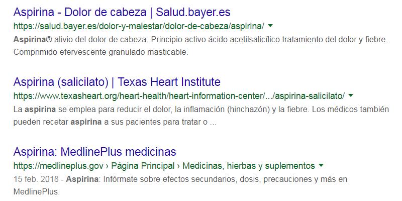 Búsqueda información salud