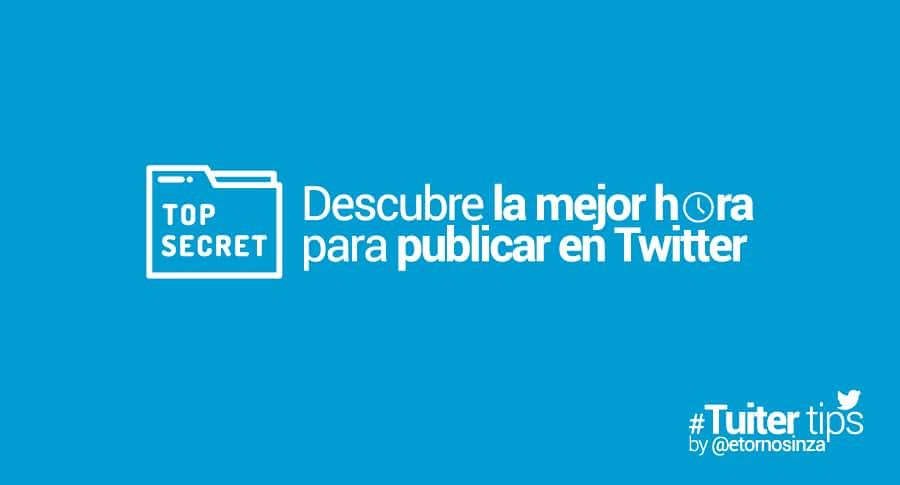 Mejor horario para publicar en twitter españa 2020