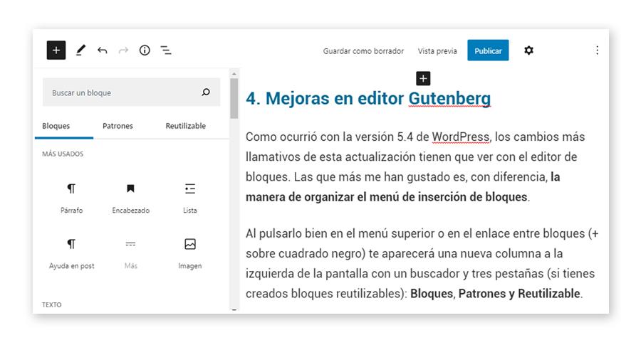 Gutenberg WordPress 5.5