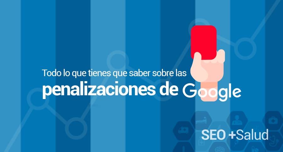 penalizaciones google en webs de salud