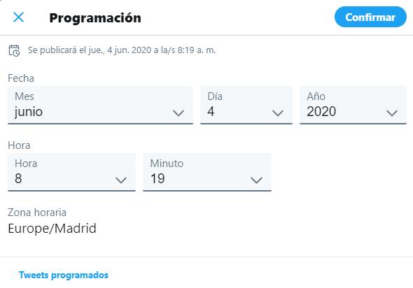 Programar Tweets en Twitter